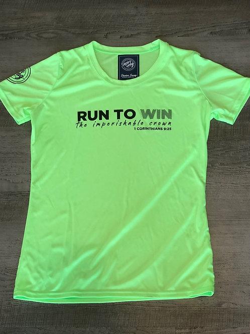Ladies Cut Run To Win T-Shirt