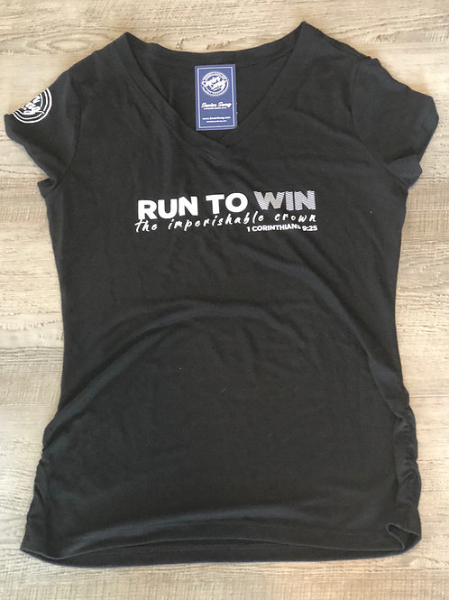 Ladies Run To Win V Neck