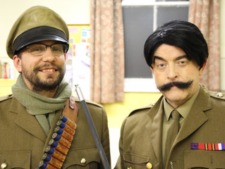 Beverley does Blackadder in New Stage Play