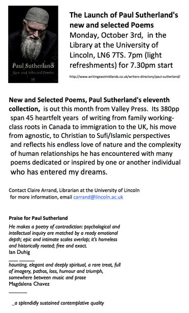HAMMOND HOUSE MEMBER PAUL SUTHERLAND, LAUNCHES NEW BOOK OF POETRY