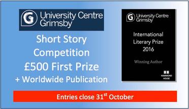 International Literary Prize - Entries close 31st October .