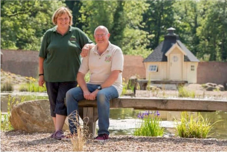 Sonia and David Elton, Owners of the Walled Garden Baumber