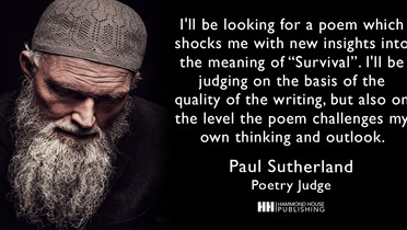 Poet Paul Sutherland Joins The Judging Panel