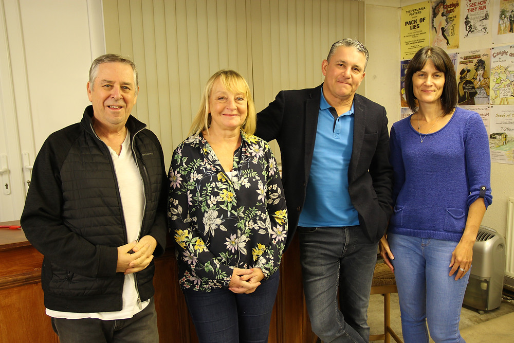 The happy foursome: Steve Howland, Gill Collins, Gary Hart and Nick Johnson