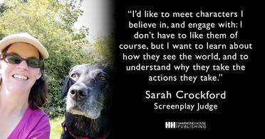 Screenplay Winner Sarah Crockford Joins The Judging Panel