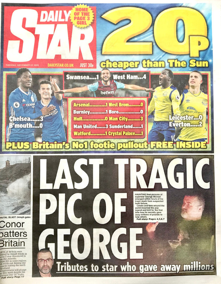 GEORGE MICHAEL - DAILY STAR
