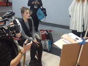 Dreharbeiten zum Messefilm Flair Wear auf der opti 2019