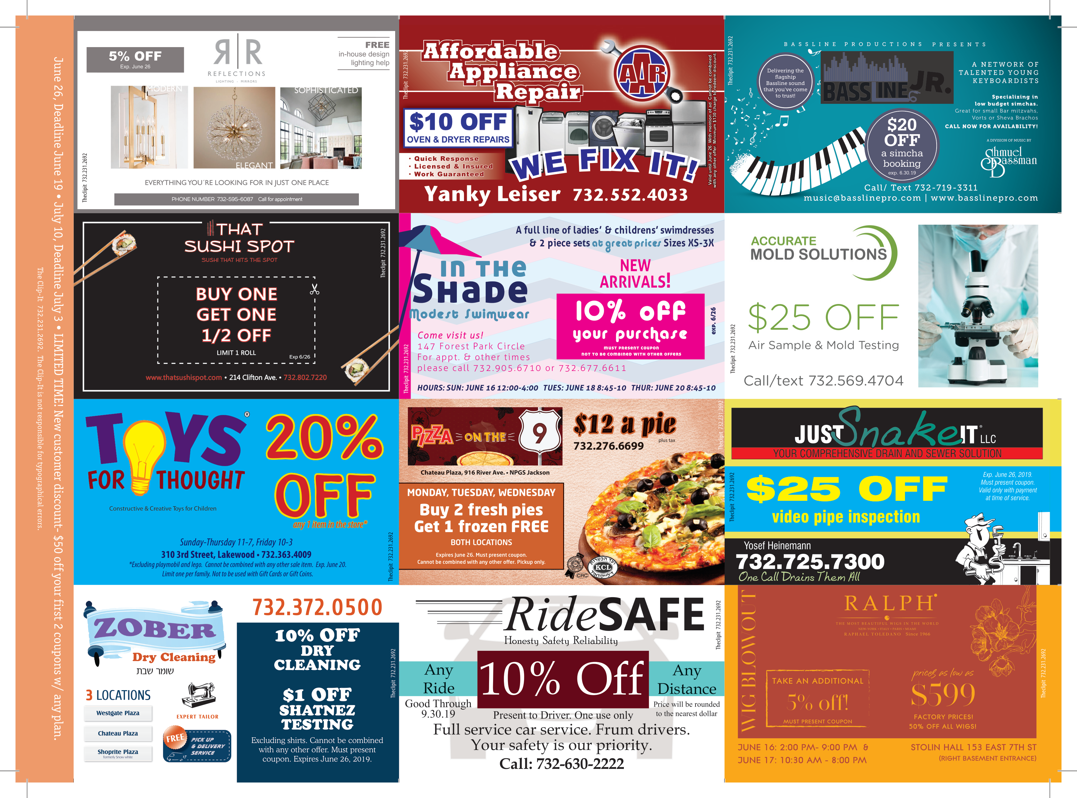 Coupon Card 6/12/19 Front