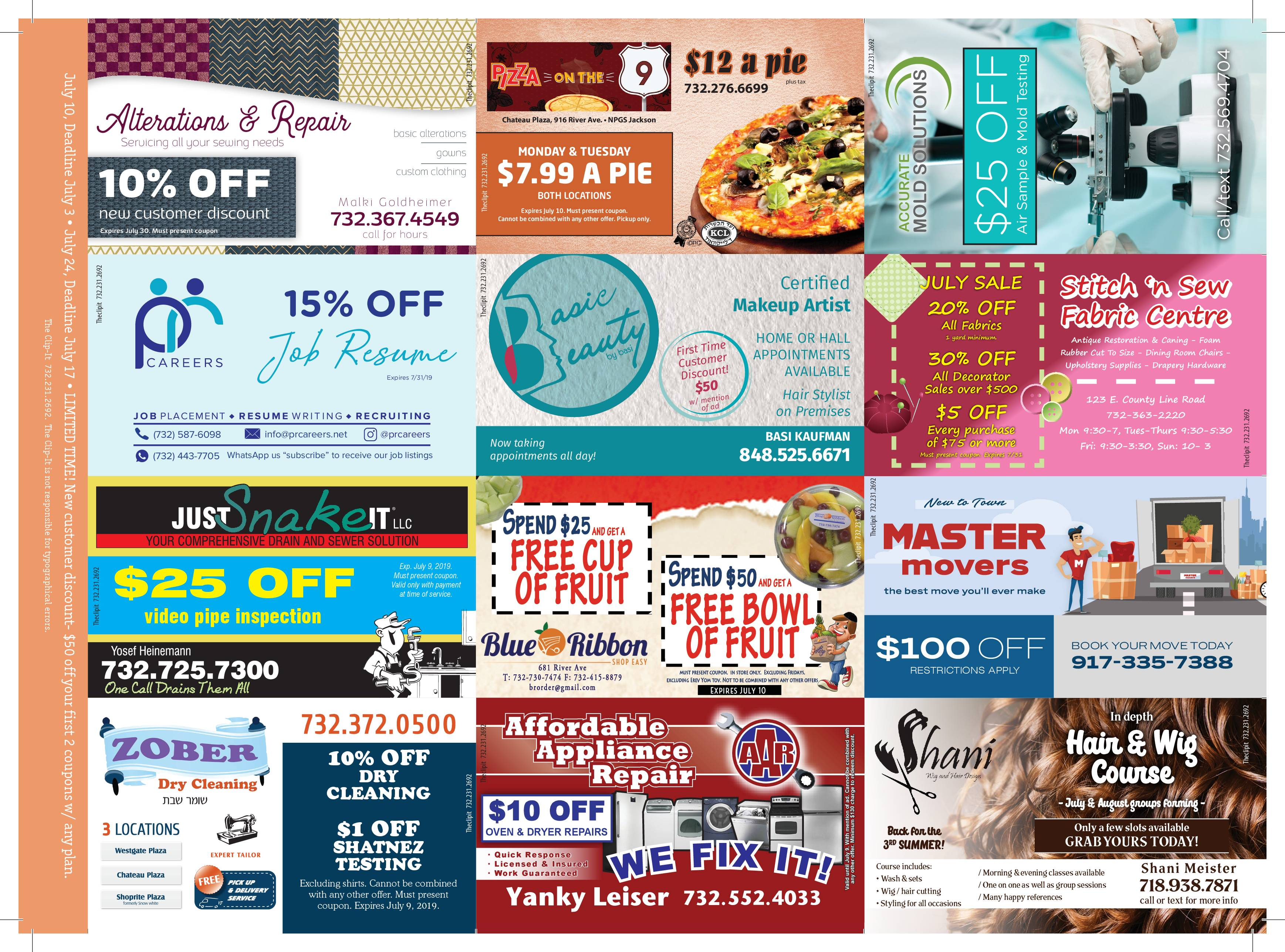 Coupon Card 6/26/19 Front