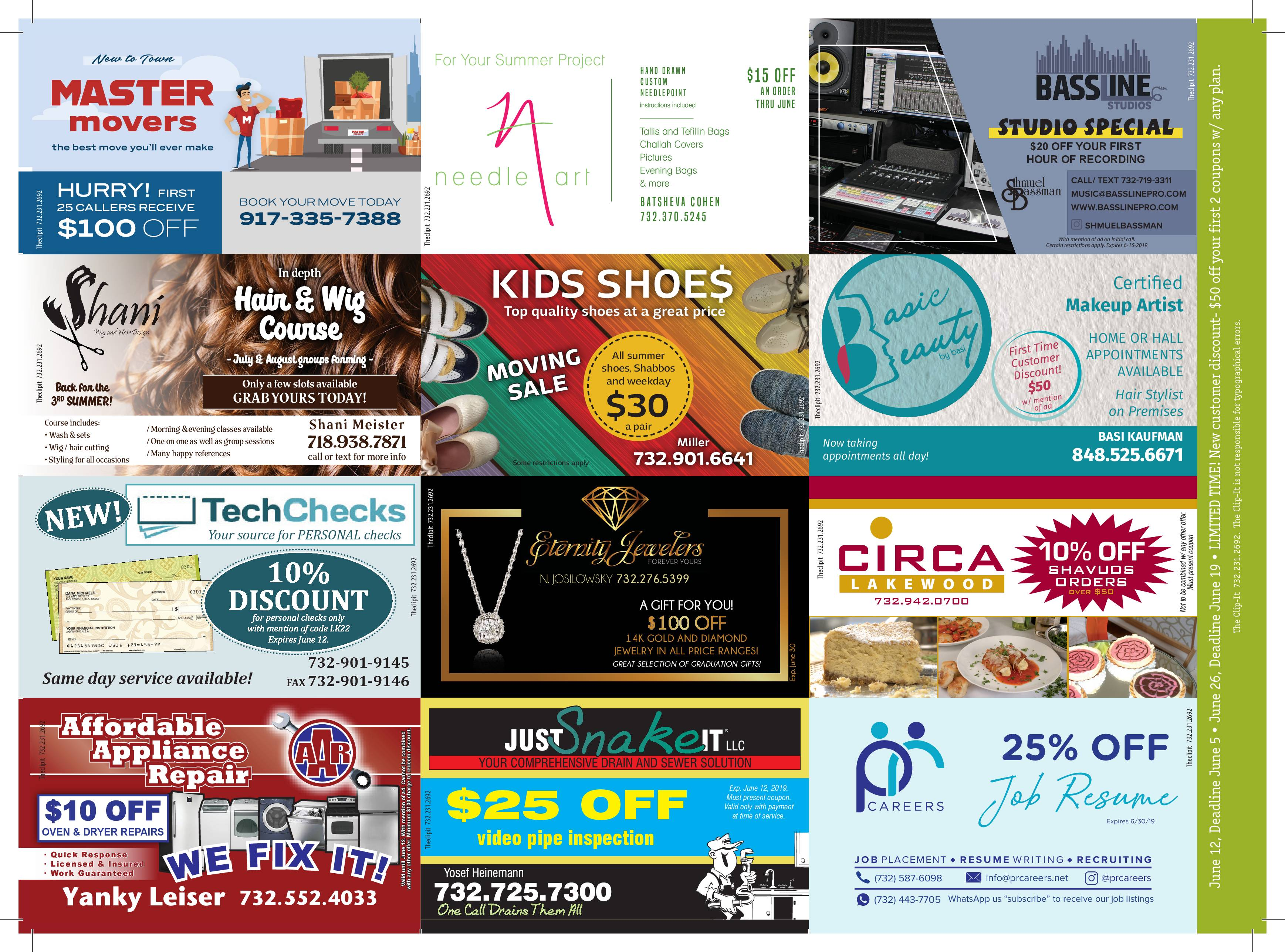Coupon Card 5/29/19 Front