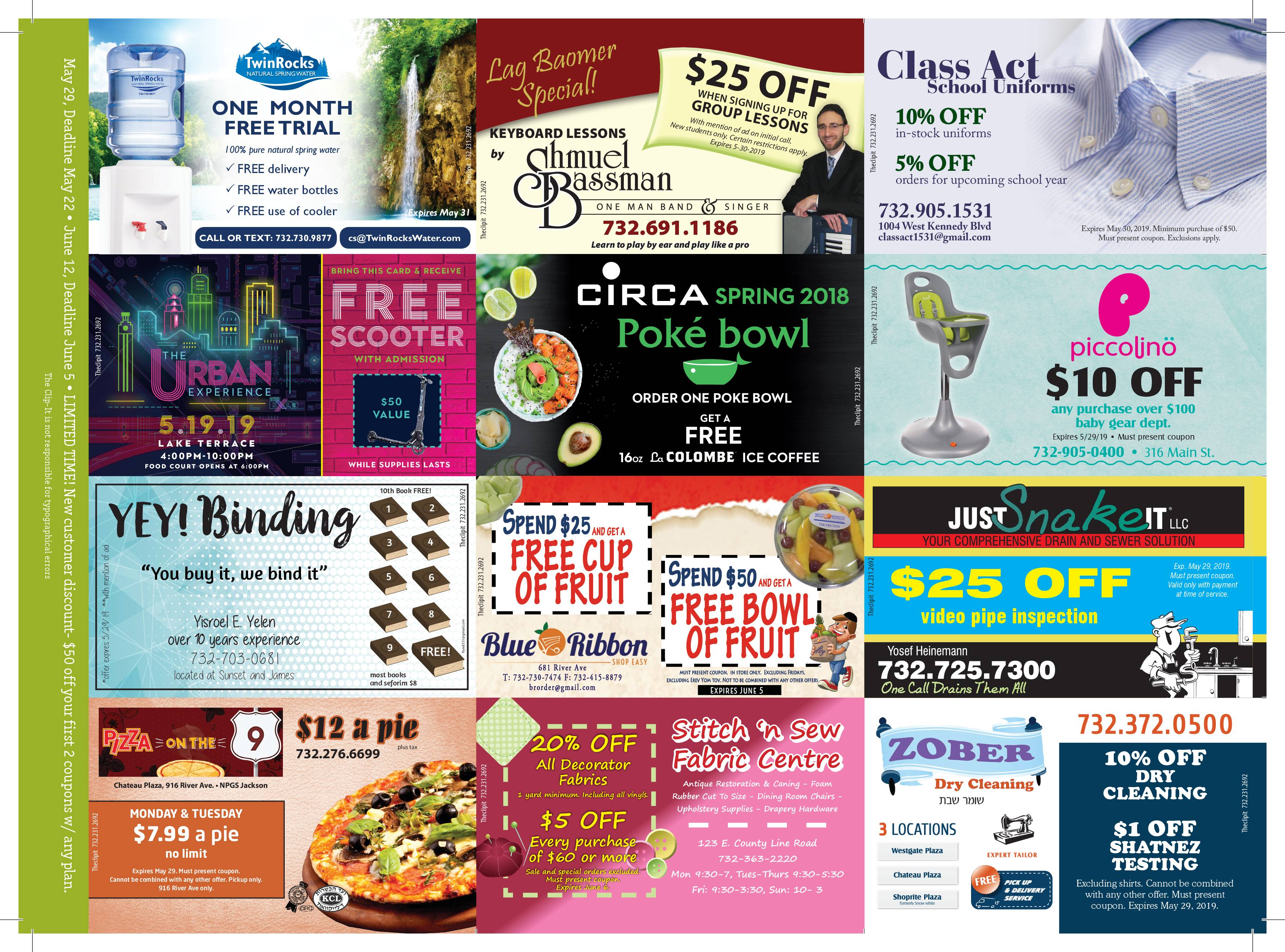 Coupon Card 5/15/19 Front