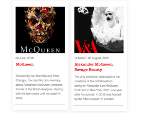 McQueen the movie & Savage Beauty exhibition