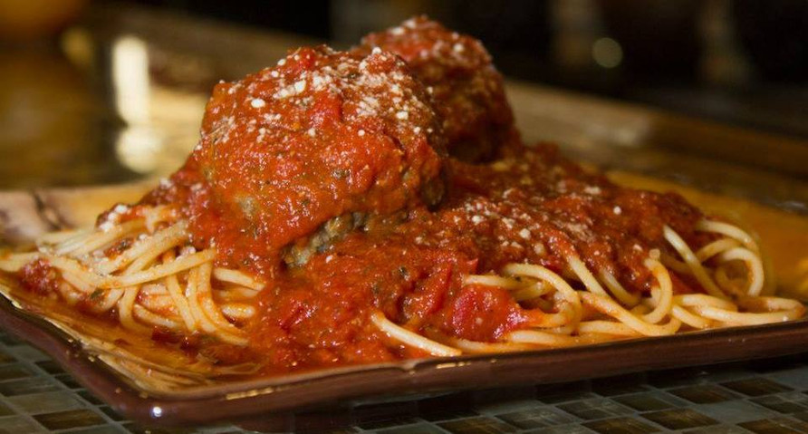 Spaghetti and Meatballs. Homemade, hand-rolled!