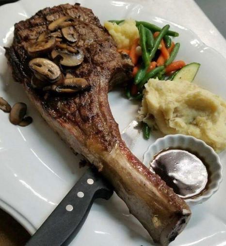 Cowboy steak! Bring your appeite!