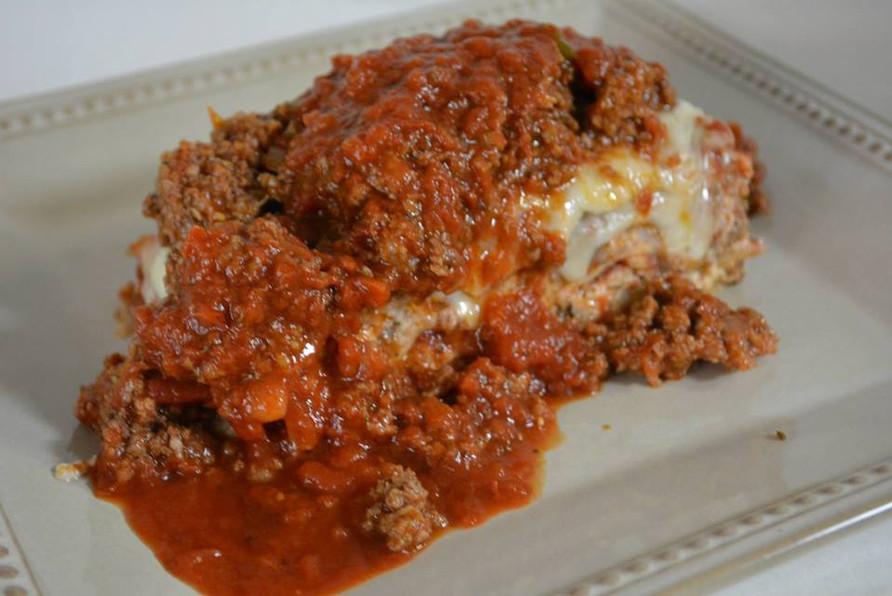 Homemade lasagna. Made from scratch.