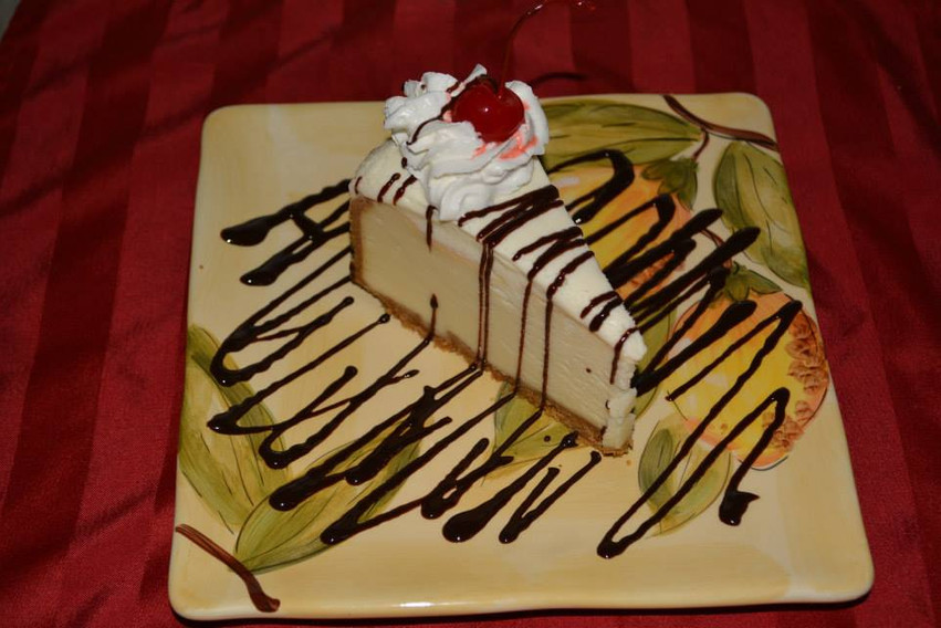 NY Style Cheesecake, just in case you have a little more room after dinner.