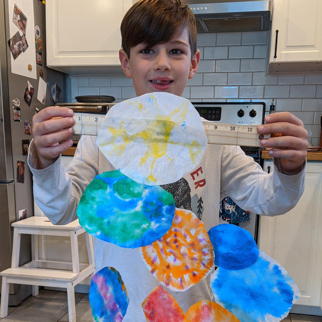 Coffee Filter Solar System