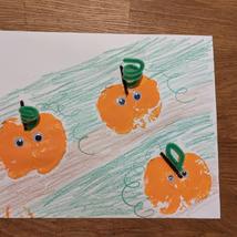 Apple Stamping Pumpkins