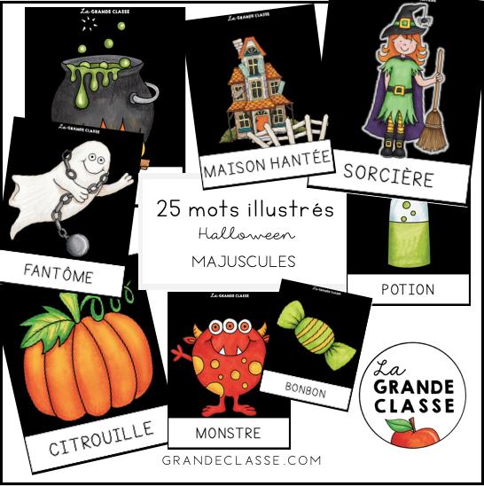 Mots illustrés Halloween Majuscules