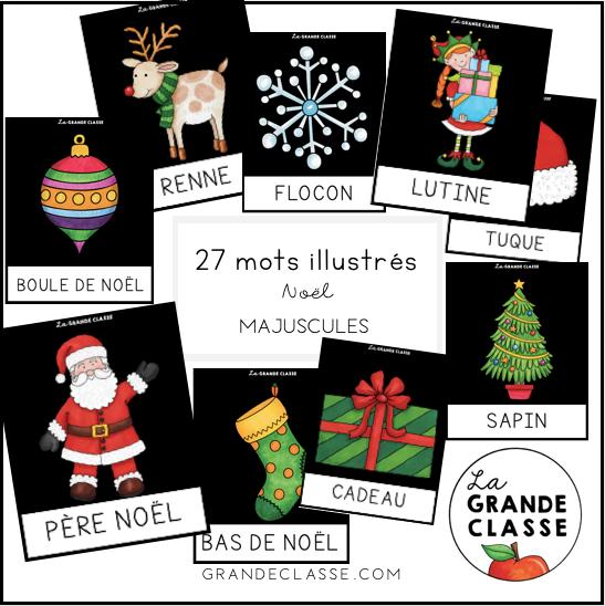 Mots illustrés Noël Majuscules
