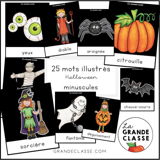 Mots illustrés Halloween