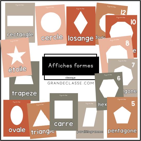 Affiches formes (classique)