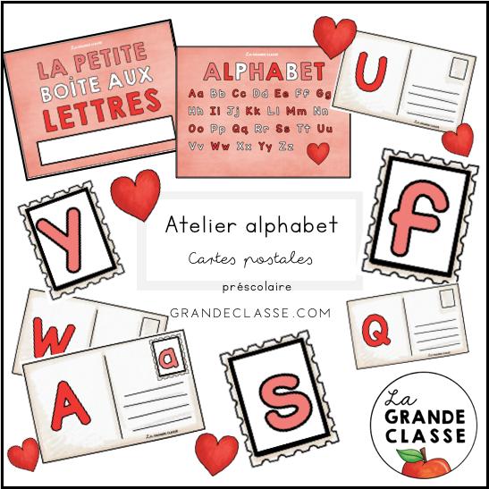 Atelier alphabet cartes postales