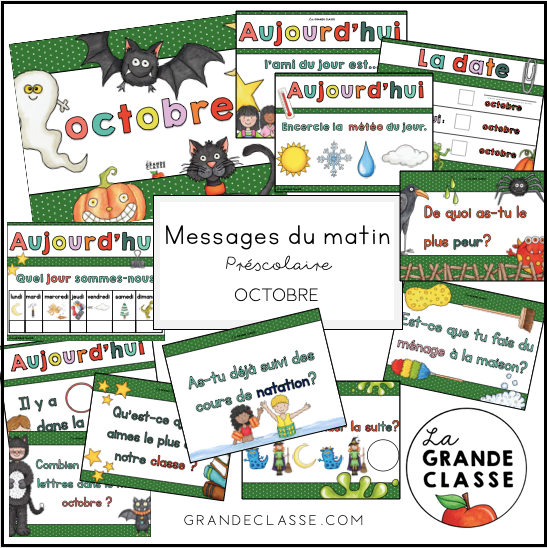 Octobre : routine, messages du matin et causerie