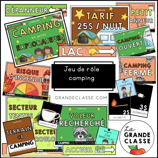 Jeu de rôle camping