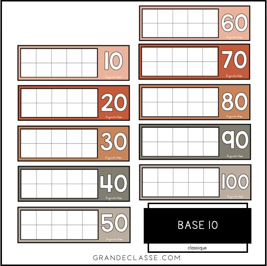 Tableau de 10 (classique)