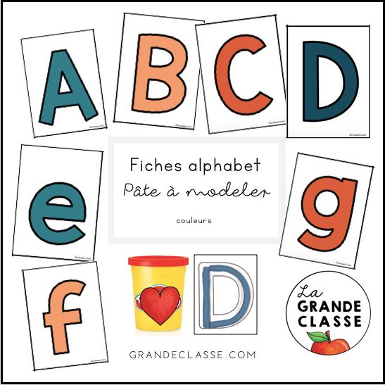 Fiches alphabet en pâte à modeler
