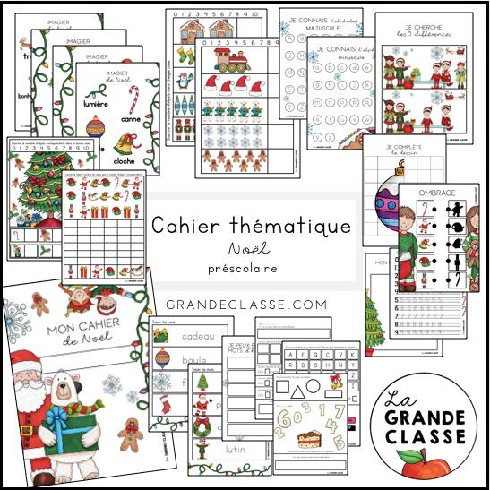 Cahier thématique Noël préscolaire
