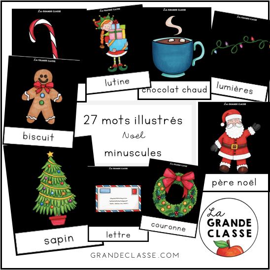 Mots illustrés Noël minuscules