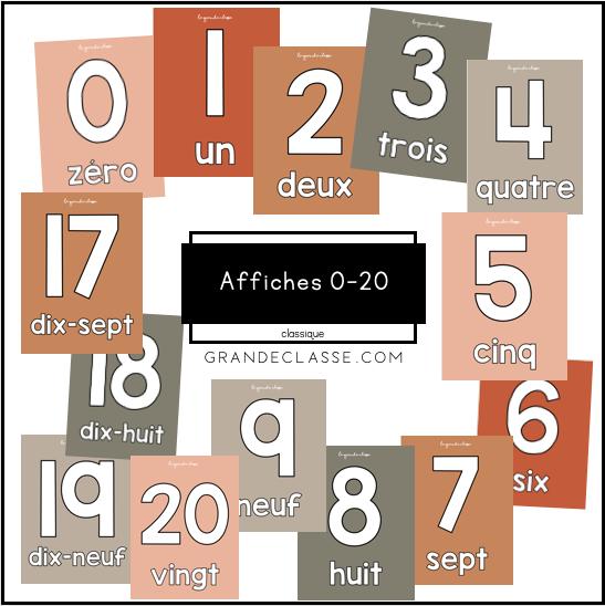 Affiche 0-20 (Classique)
