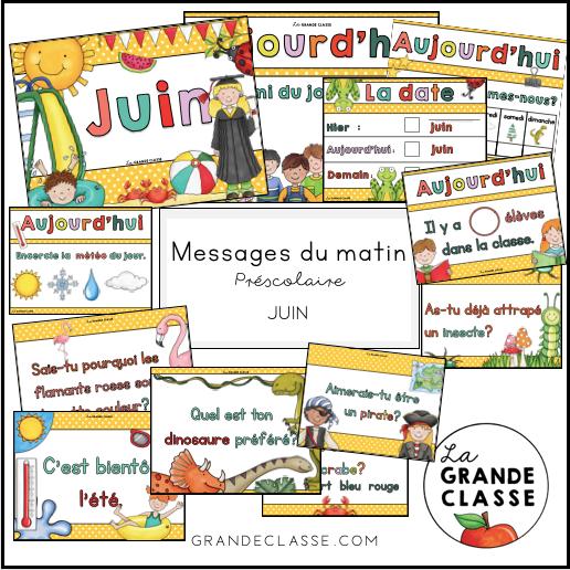 Juin :routine,messages du matin et causerie