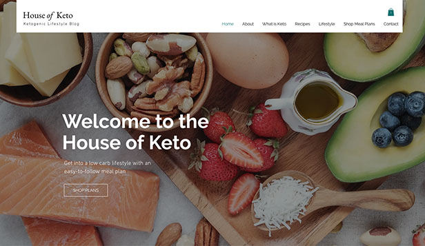 See All Templates website templates – Keto Diet Blog
