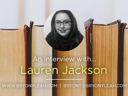 Author Interview: Lauren Jackson