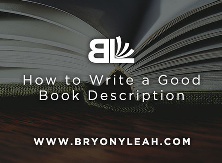 How to Write a Good Book Description