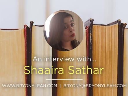 Author Interview: Shaaira Sathar