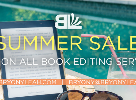 SUMMER SALE: Save on All Book Editing Services!