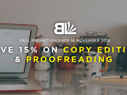 Book Editing Discount: Save 15% on Copy Editing & Proofreading