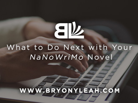 What to Do Next with Your NaNoWriMo Novel