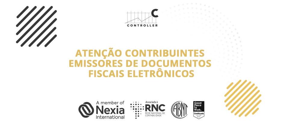 Atenção contribuintes emissores de documentos fiscais eletrônicos