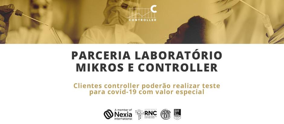 Parceria laboratório Mikros e Controller