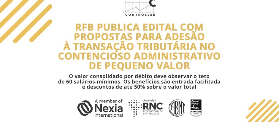 RFB publica edital com propostas para adesão à transação tributária