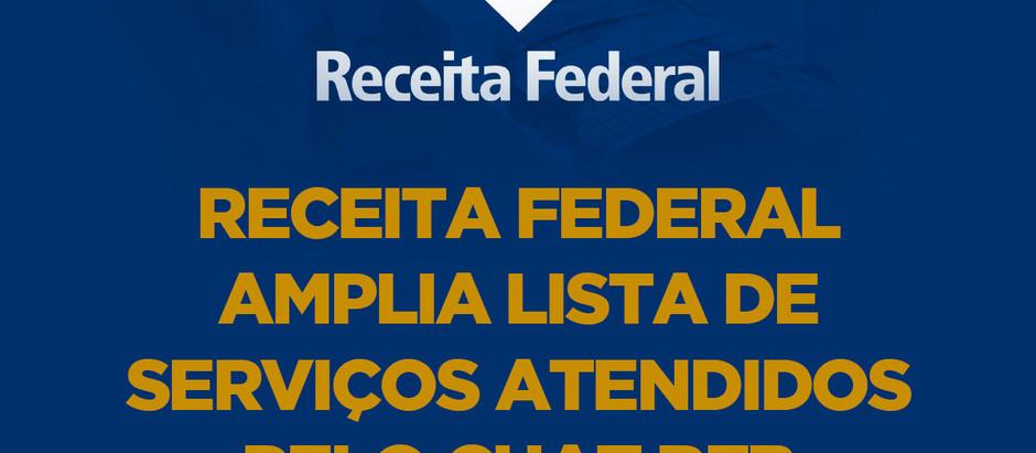 Receita Federal amplia lista de serviços atendidos pelo Chat RFB
