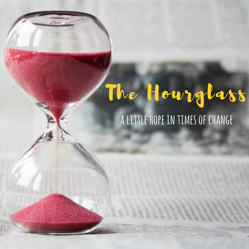 hourglass, hope in change,