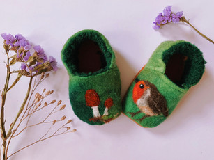 Woolfelted Baby shoes