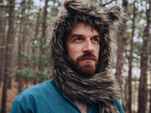 Animal Hooded scarf / Wolf