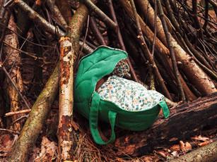 Leaf basket plus doll sized leaf blankets